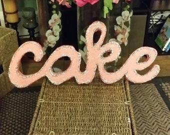 Styrofoam Name - Styrofoam Letters - Cursive Name - Cursive Letter Decor - Free Standing Cursive Letter - Glitter Letter Decor - Custom Name