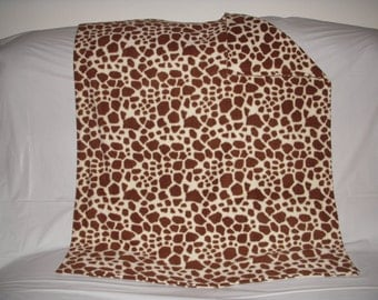 Pet Blanket - oh so cute camel print fleece with the same print on the reverse side.