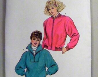 """1980s Zip up Jacket Windbreaker sewing pattern Windbreaker Kwik Sew 1566 Size XS-S-M-L Bust 31.5-32.5-34-35.5-37-38.5-40-41.5"""" Uncut Ff"""