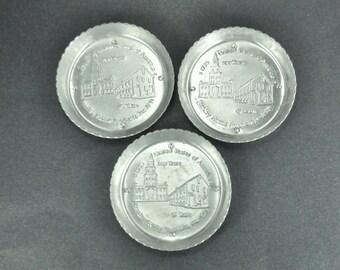 Stanley 45th Anniversary Aluminum Coasters Set of 3 Bicentennial 1976