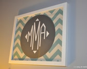 the circle chevron framed monogram