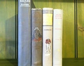 Vintage Earl Grey: Antique Book Stack Lot in Gray Galileo, Quaker, Mariner, Puritans History