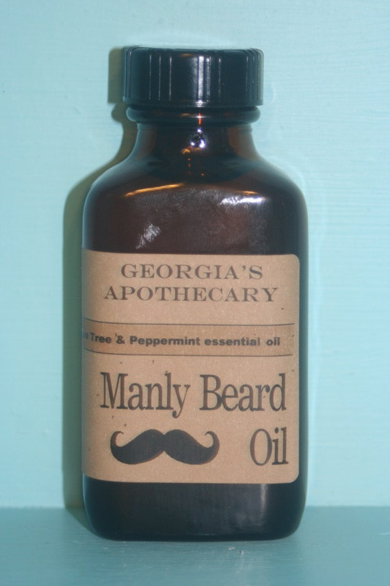 Manly Beard Oil-made with Organic oils-Rosemary Mint Essential oil 3 ozs