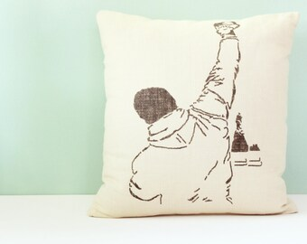 Rocky Gifts For Men, Decorative Pillow, Throw Pillow, Linen Pillow Cover, 16 x 16 Pillow, Modern Pillow, Man Cave Decor