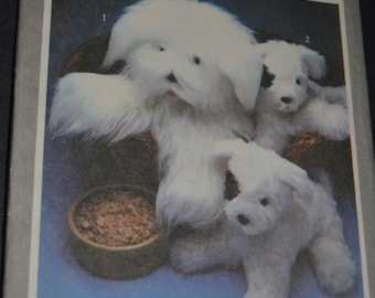Simplicity 9208 Sheepdog and Puppy Sewing Pattern - One Size - UNCUT
