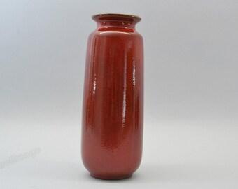 West German red vase by Scheurich 206-27
