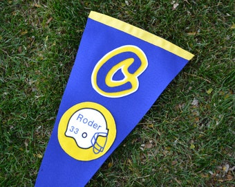 Personalized Team Pennant  Vertical