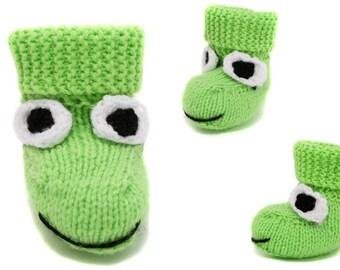 Girls frog slippers Etsy