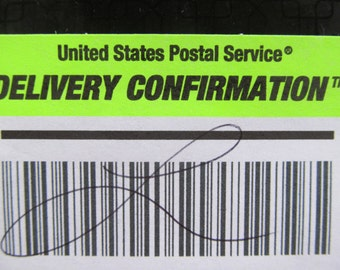Signature Confirmation On Delivery Of Item Domestic USA Only USPS Upgrade by ReVintageLannie  Etsy
