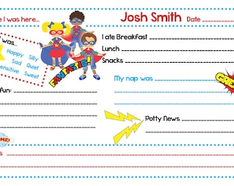 Personalized Notepads - Super Hero Daycare Notes - Set of 2