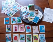 54 loteria cards 10 game boards Day of the Dead Mexican Folk Art fiesta party craft supply: dia de los muertos wedding birthday craft supply