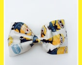Unique and Adorable Minion Duct Tape Hair Bow, Duct Tape Accessories, Alligator Clip, Minions, Minions Hair Bow