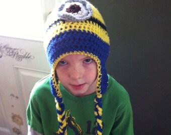 Minon crochet earflap hat
