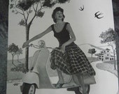 Vintage Vespa original ad it comes a Spanish  magazine Vintage paper Ephemera