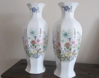 Vintage Aynsley Wild Tudor Vase's