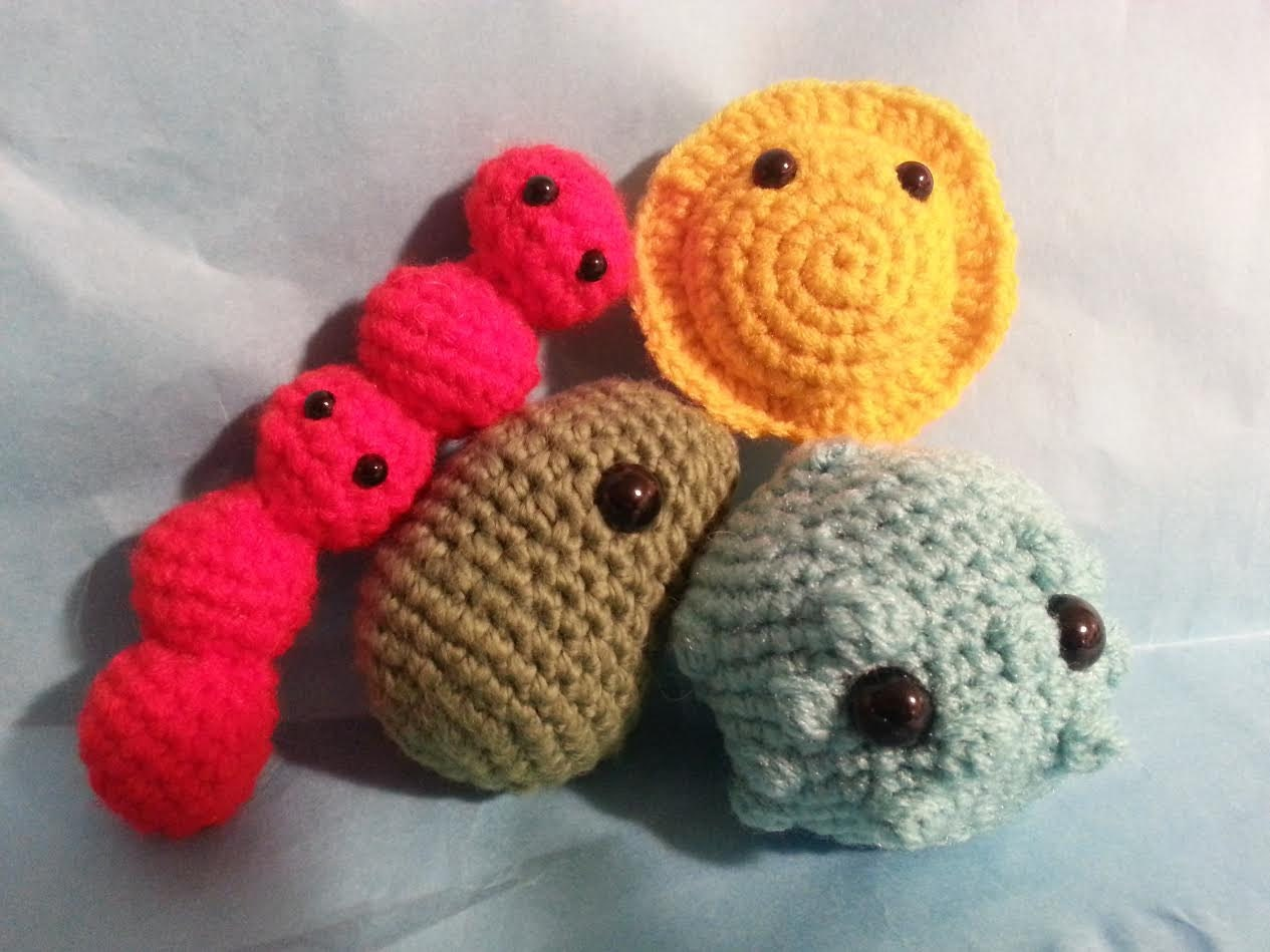 Crochet Amigurumi Collection : Virus Toy Collection Amigurumi 4 in 1 Crochet Pattern Flu ...