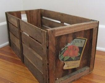 Vintage Wood Box, Berry Box,crate