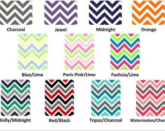 DESIGN YOUR OWN - Chevron Minky Crib Blanket - Double Minky Chevron Blanket - Crib Size 30x52