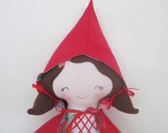 Little Red Riding Hood Soft Doll- 18 inch- Made to Order