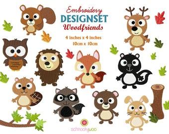 Embroidery Wildlife, Embroidery Woodland, Woodland Animals, Embroidery Animals, Embroidery Owl, Fox, Hedgehog, Rabbit, Bear, Deer