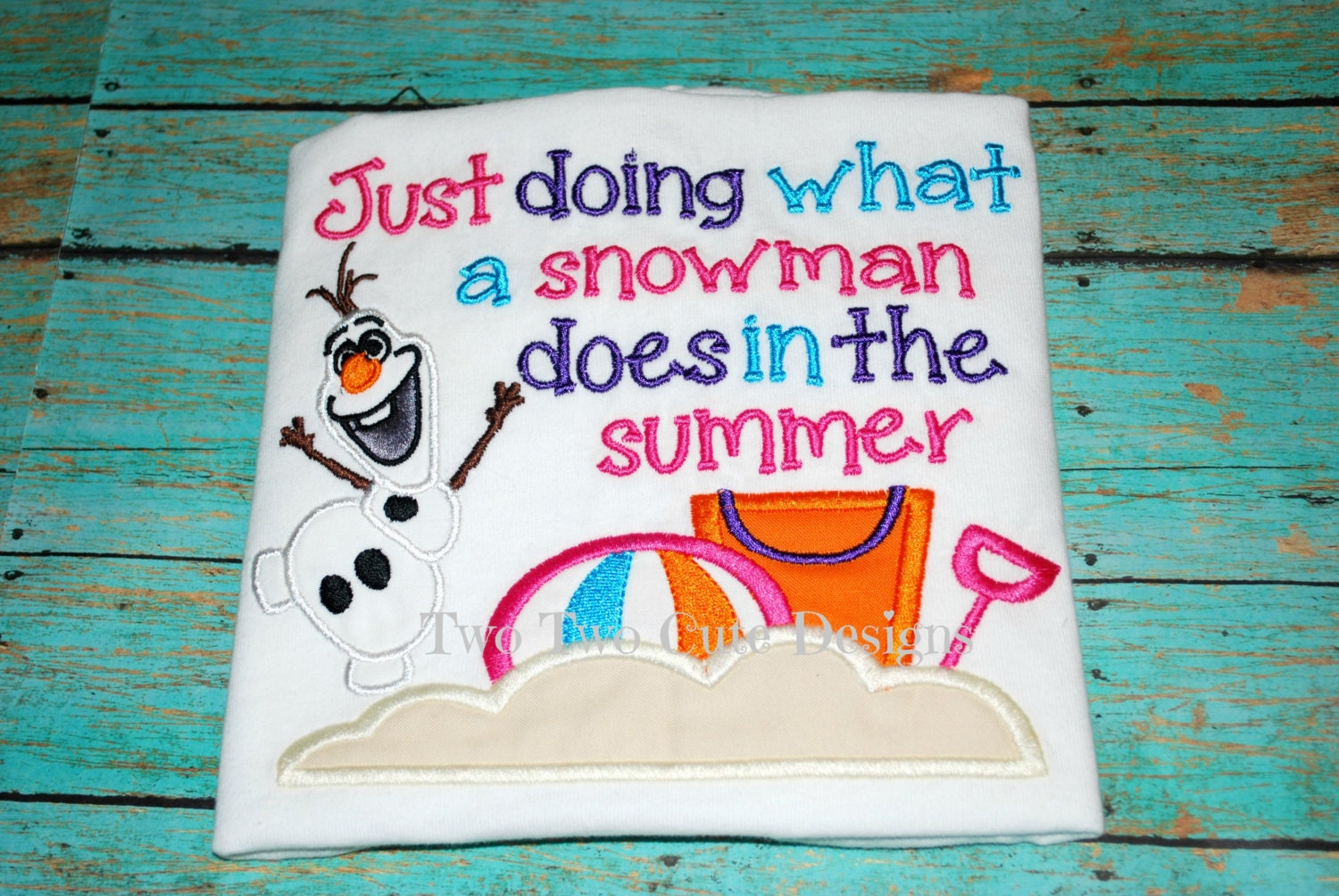 Frozen Summer Snowman Quote With Photo