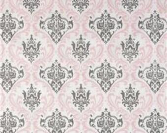 1 yard Premier Prints Madison Twill Bella/Storm- Damask Fabric