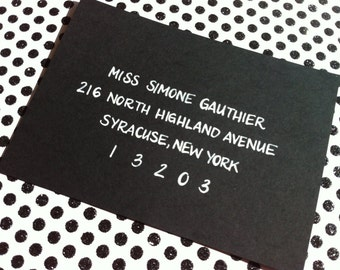 SIMONE : Custom Wedding Calligraphy Envelope Addressing