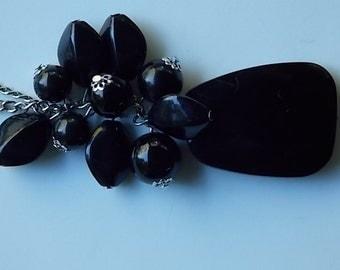 Vintage Black Plastic Necklace