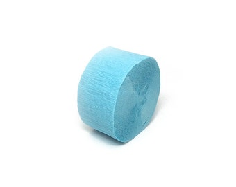 Baby Blue Crepe Paper Streamer Roll - 81 Feet Long - Paper Craft Party Supplies
