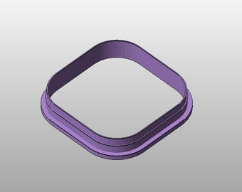 Square cookie cutter w/ rounded corners - 3.5""