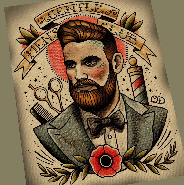 Victorian Man Tattoo Gentlemen's Club Tatto...