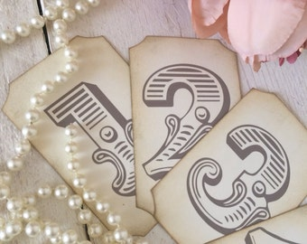 Wedding Table Numbers 1-25