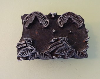 Hand Carved Antique India Wood Block Stamp,Textile Stamp