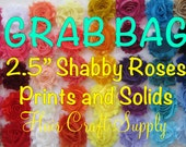 CLEARANCE --  50 Shabby Flowers - GRAB BAG - No special requests - We choose colors! Mix of solids and prints