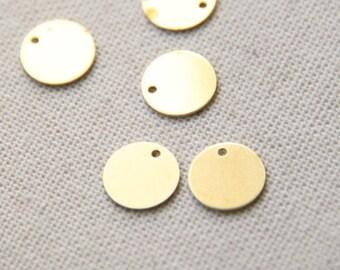 24 pcs of brass tag charm pendant 8x1mm-1641-raw brass