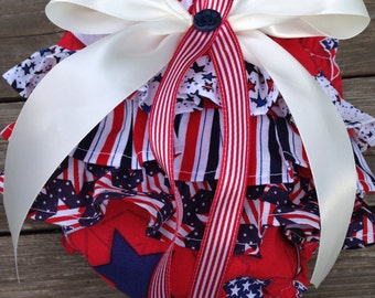 Little Miss Firecracker Ruffle Bottom Diaper Cover