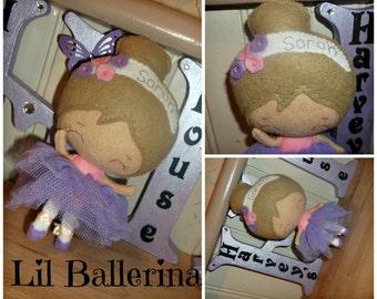 Little Ballerina Doll - Cute Felt Collectable Girl -  Made to Order