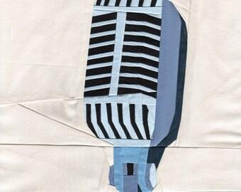 Vintage Microphone - Paper Piecing