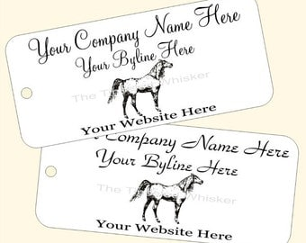 Arabian Horse Custom Printed Price Tags Personalized Equine Hang Tags for Equestrian Businesses Choose Your Cardstock