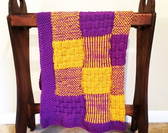 Patchwork Knit Baby Blanket