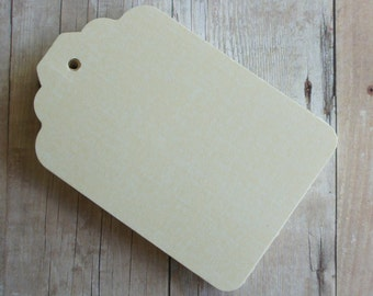 Paper Tags, Gift Tags, Labeling Tags, Ivory Tag Set of 10