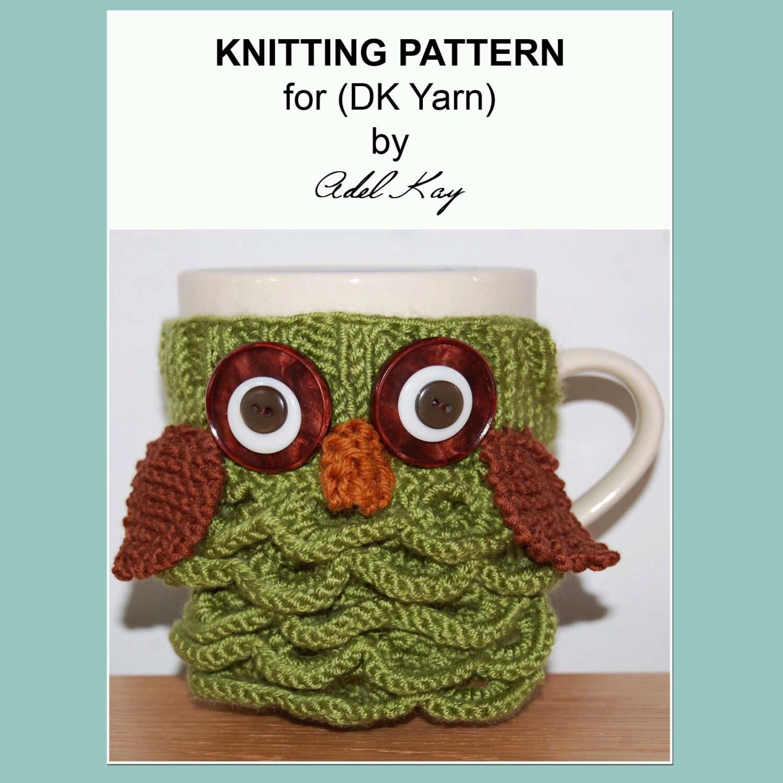 Knitted Mug Warmers Pattern : Archie Knitting Pattern PDF Document Mug Cup Cosy Warmer DK