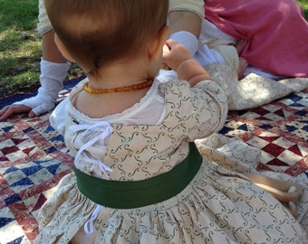 18th Century, Colonial Baby or Toddler Frock Gown: Colonial, Georgian