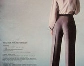 80s Leonoras PERFECT FIT Pants Master Pants  Couturier Pattern Plus Book, Sew Perfect Fitting Pants Every Time  Hip 40 to 44 UNCUT