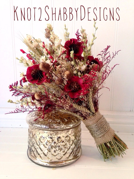 items similar to wildflower bouquet wedding dried