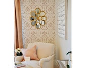 Katie's Floral Wall Stencil Reusable
