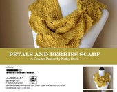 Crochet Pattern-Petals and Berries Scarf