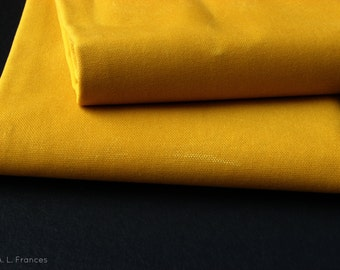 Hand Waxed Cotton Canvas Fabric - Marigold Yellow 10oz. 60 Inches wide by the yard