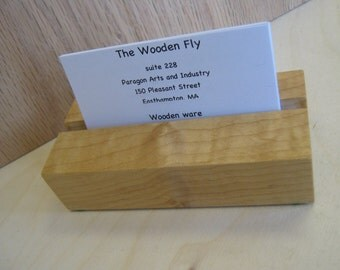 Business card holders in cherry or maple