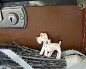 Vintage Copper Dog Brooch Pin